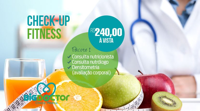 Pacote promocional Check-up Fitness