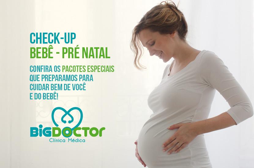 Pacote promocional para Check-up Bebê e Pré Natal