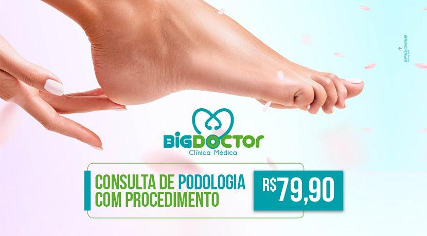 Consulta de podologia com procedimento