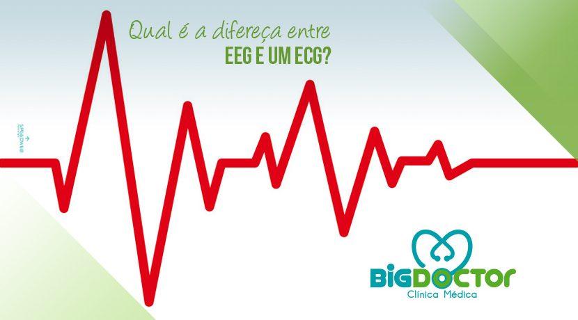 Qual é a diferença entre EEG e ECG?