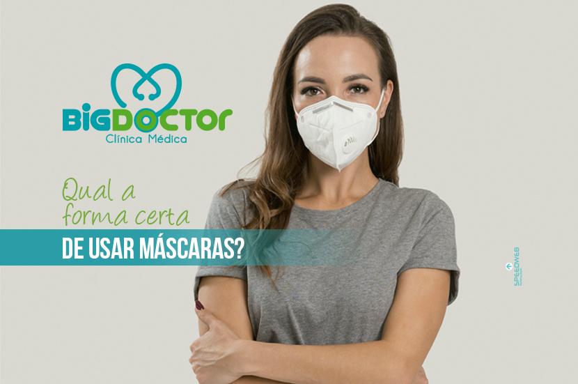 Qual a forma certa de usar máscaras?